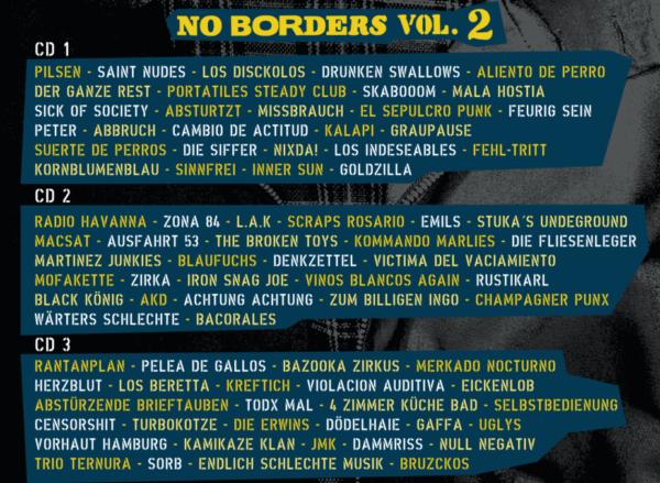 Bandlist No Borders Vol 2